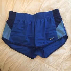 Blue/royal blue Nike running shorts